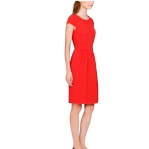 J. Crew Cap Sleeve Dress Like New Red